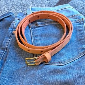 Jcrew Blush Skinny Leather Belt